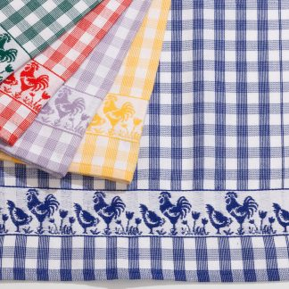 Handtuch Küchentuch Geschirrtuch Chicken-Parade I glatt Herka-Frottier cotton terry towel textile kitchen Made in Austria