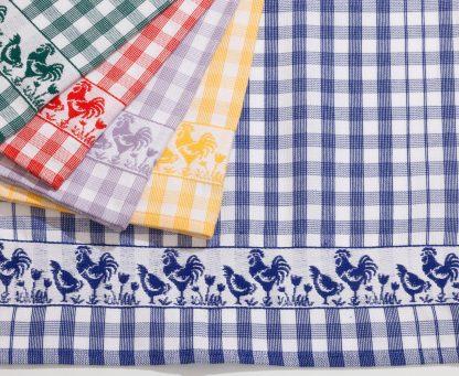 Handtuch Küchentuch Geschirrtuch Chicken-Parade I glatt Herka-Frottier cotton terry towel textile kitchen Made in Austria