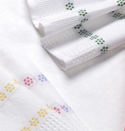 Handtuch Küchentuch Geschirrtuch Pikee Pique Herka-Frottier Baumwolle cotton terry towel kitchen textile Made in Austria