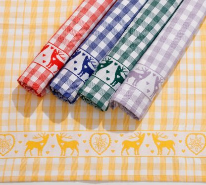 Handtuch Küchentuch Geschirrtuch Hubertus Hirsch Herka-Frottier Baumwolle kitchen cotton etrry towel Made in Austria