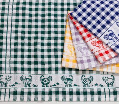 Handtuch Küchentuch Geschirrtuch Kitty Katzen Herka-Frottier Baumwolle cotton kitchen terry towel Made in Austria