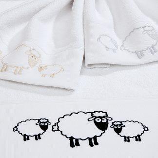 Handtuch Landliebe Stick Schafe Herka-Frottier Baumwolle Geschenke Souvenir Frottee cottobn terry towel gifts Made in Austria
