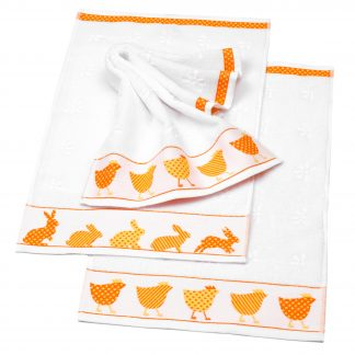 Handtuch Little Easter Rabbit Ostern Herka-Frottier Baumwolle Gaestetuch cotton terry easter towel made in Austria