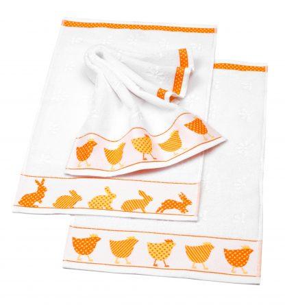 Handtuch Little Easter Rabbit Ostern Herka-Frottier Baumwolle Gaestetuch cotton terry easter towel made in Austria