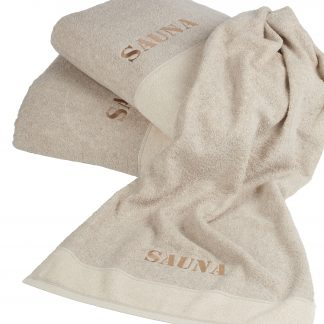 Handtuch Leinen Thor Baumwolle Herka-Frottier cotton linen terry towel made in Austria