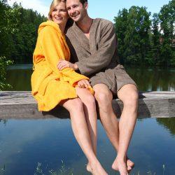 Bademantel Handtuch Ibiza Herka-Frottier terry towel bath robe cotton Baumwolle