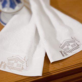Handtuch Landliebe Stick Chalet Herka-Frottier Geschenke Souvenir gifts Bad Baumwolle cotton terry towels embroidery made in Austria frotte