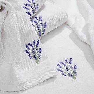 Handtuch Landliebe Lavendel Herka-Frottier Geschenke Souvenir Bad bathBaumwolle cotton terry towels made in Austria