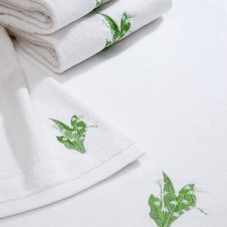Handtuch Landliebe Maiglöckchen Herka-Frottier Geschenke Souvenir Bad bath lily of the valley Baumwolle cotton terry towels made in Austria