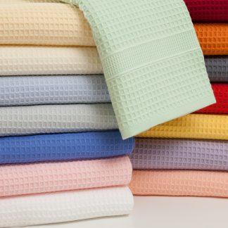 Handtuch Pikee von Herka-Frottier klassisches Baumwollpique Handtuch Badvorleger Stoff terry towel bath