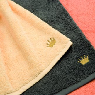 Handtuch Premium Krone Herka-Frottier Luxus Bad Modern Living Stick terry towel crown embroidery Baumwolle