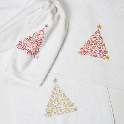 Handtuch Toscana Weihnachtsbaum Herka-Frottier Modern Living Luxus Bad Weihnachten Stick terry towel christmas embroidery Baumwolle