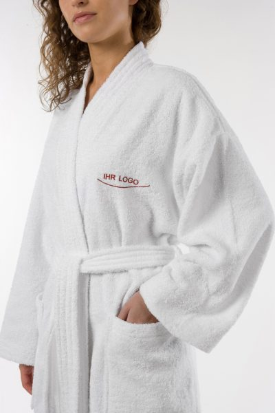Bademantel Wald Baumwolle Herka-Frottier Stick Ihr Logo Hotelqualität terry bath robe made in Austria embroidery name