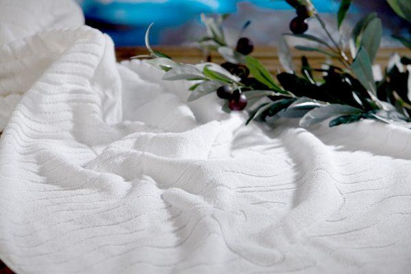 Handtuch BIO Relax Zweig GOTS Global Organic Textile Standard Herka-Frottier Bad Baumwolle Textil terry towel global organic texile standard