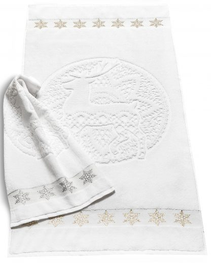 Handtuch Hirsch Harry Weihnachten Herka-Frottier terry towel cotton christmas deer Baumwolle