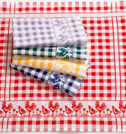 Küchentuch Geschirrtuch Hahn Baumwolle Herka-Frottier made in Austria terry towel kitchen cotton