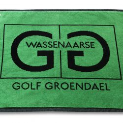 Handtuch Golf Velour Promotion Werbung Baumwolle Herka-Frottier cotton terry towel buggy caddy Haken Karabiner Oese Wassenaarse Golf Club