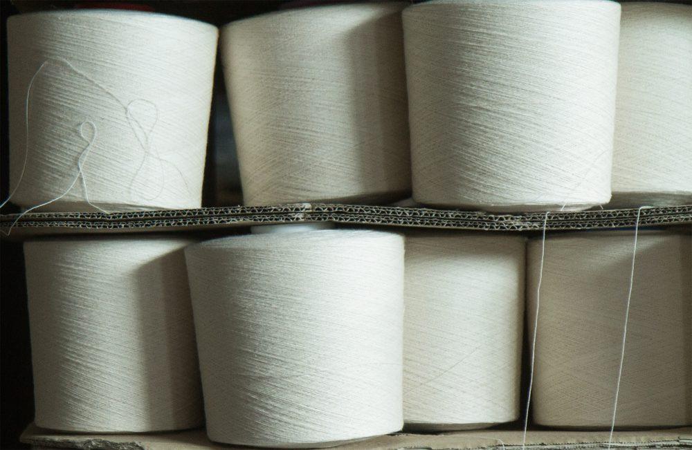 Handtuch Garnkone Baumwolle roh Ausschnitt Herka-Frottier cotton terry towel yarn imk