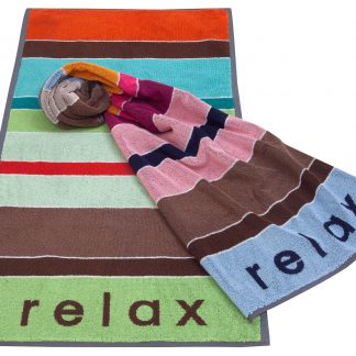Handtuch Relax Chill Time Feinzwirn Neuheiten Herka-Frottier Baumwolle Frottee cotton terry towel bat news Made in Austria